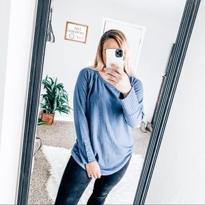 Chaser thermal waffle knit sweater
